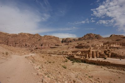 View down the ancient Petra high street