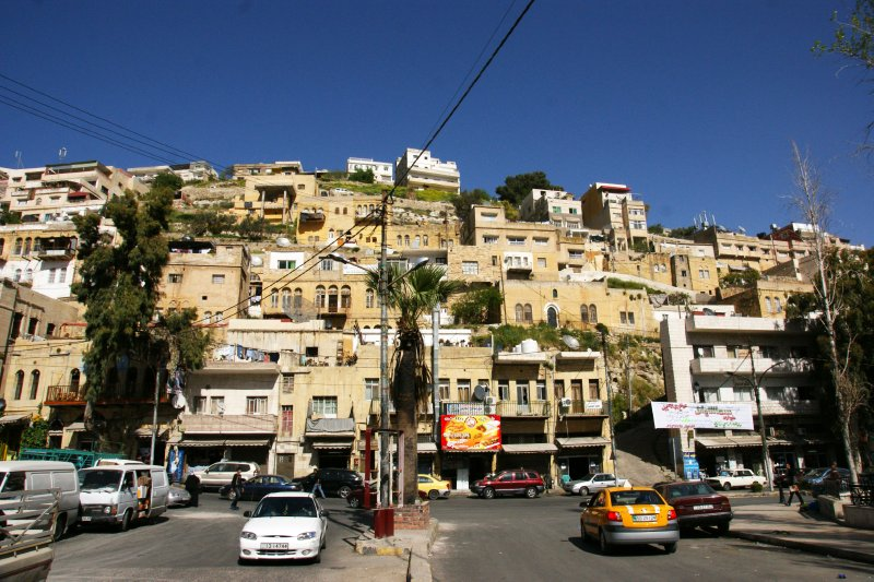 Steep hills of Salt with its typical Soman-era architecture