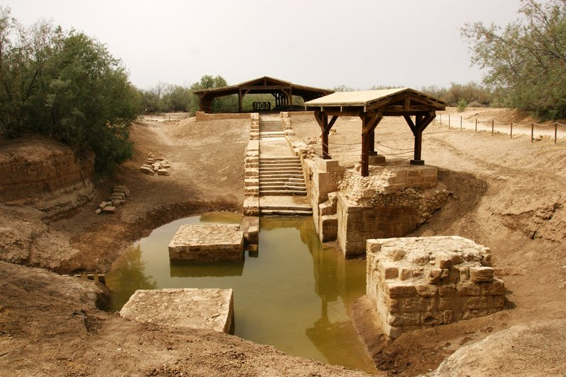 Bethanien - the site of Jesus's baptism by John the Baptist on the banks of the river Jordan