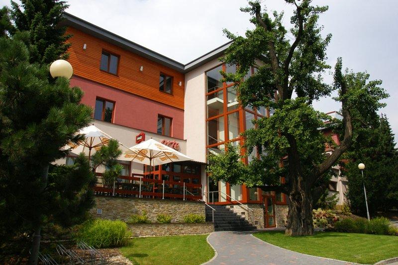 Well hidden entry of the Hotel Elegance in Šumperk