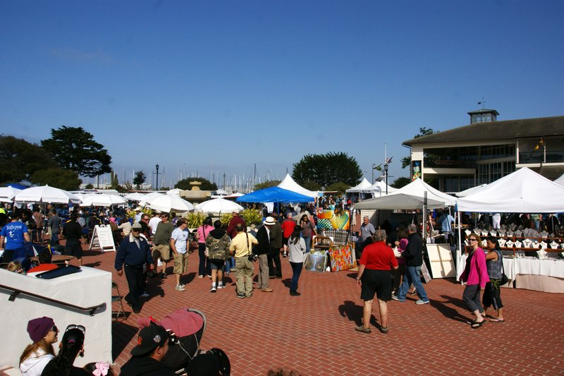 Greek festival in the old Customs House area, Monterey harbour, California