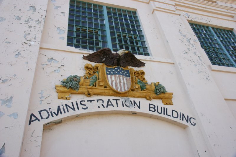 Remainder from the occupation of Alcatraz by native American Indians, San Francisco