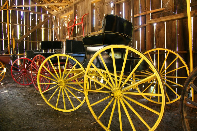 Carriages from the gold rush era, Columbia SP, California