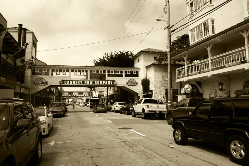 Cannery Row busy with cars, Monterey, California