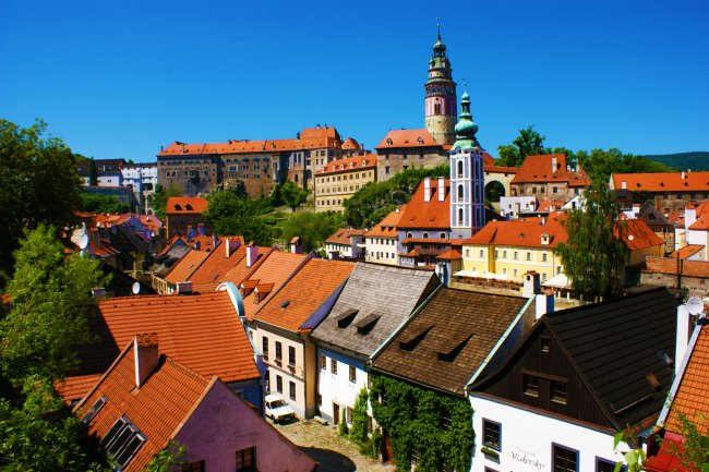 View of Cesky Krumlov from Hotel Ruze