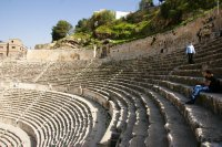 Amphitheatre in Amman set into one of the many local hills