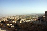 Hazy views from Mount Nebo