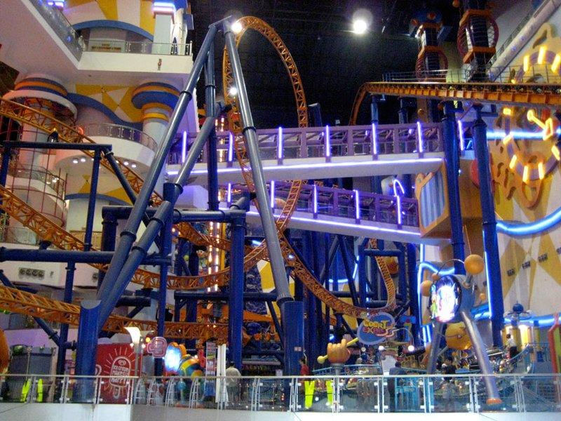 Rollercoaster in Times Square Mall, Kuala Lumpur