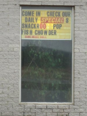 Small diner/truck stop advertising