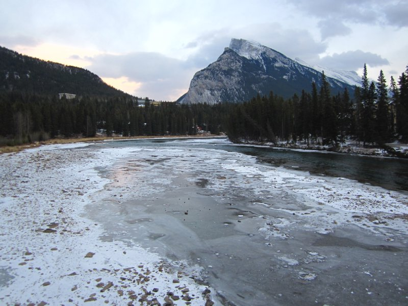 Frozen Bow River