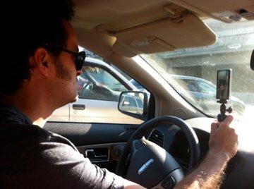 Mike navigating us through the traffic