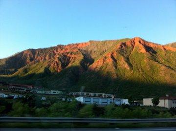Colorado sunrise over the mountains