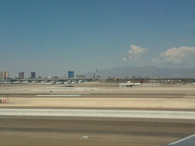The Vegas strip from very far away