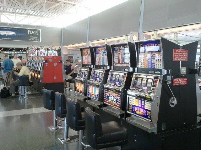 Only in Vegas people gamble at the airport