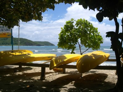 Kayaks on Naviti beach