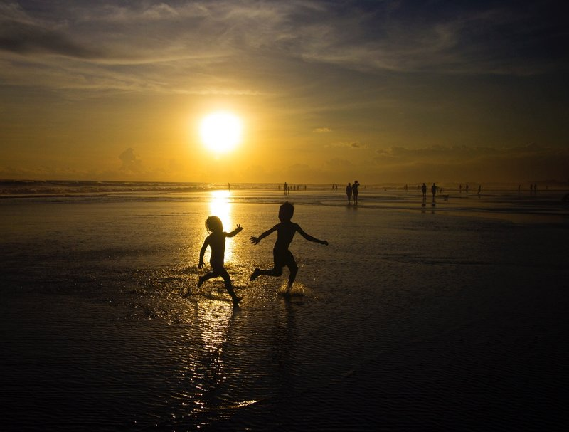 Kids playing, Seminyak beach