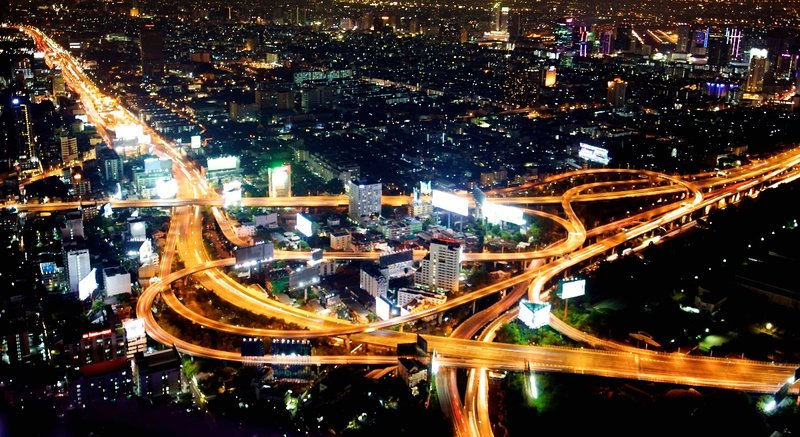 A tangle of roads from Bayioke tower