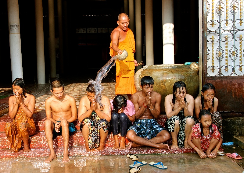 Group water blessing