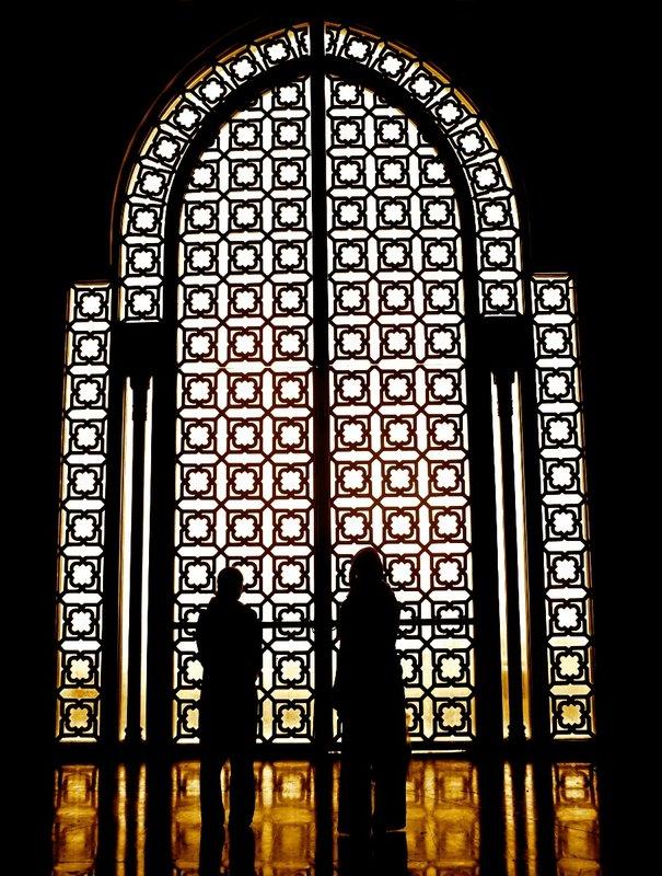 Silhouette, Hassan II mosque
