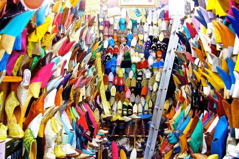 Shoe store Moroccan style, Rabat