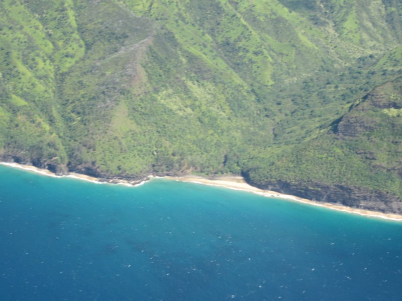 Hanakapi'ai Beach from the Air