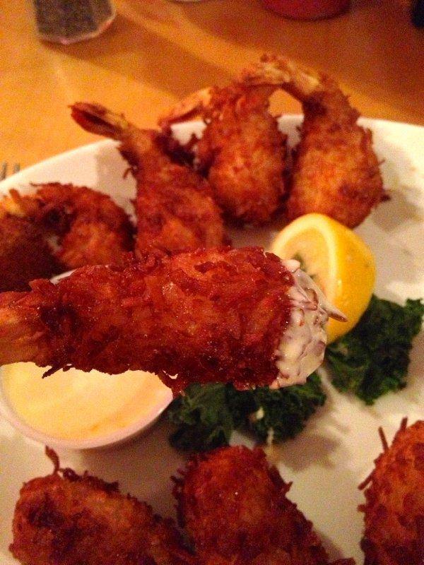 Dinner at Montego Bay - Coconut Shrimp!