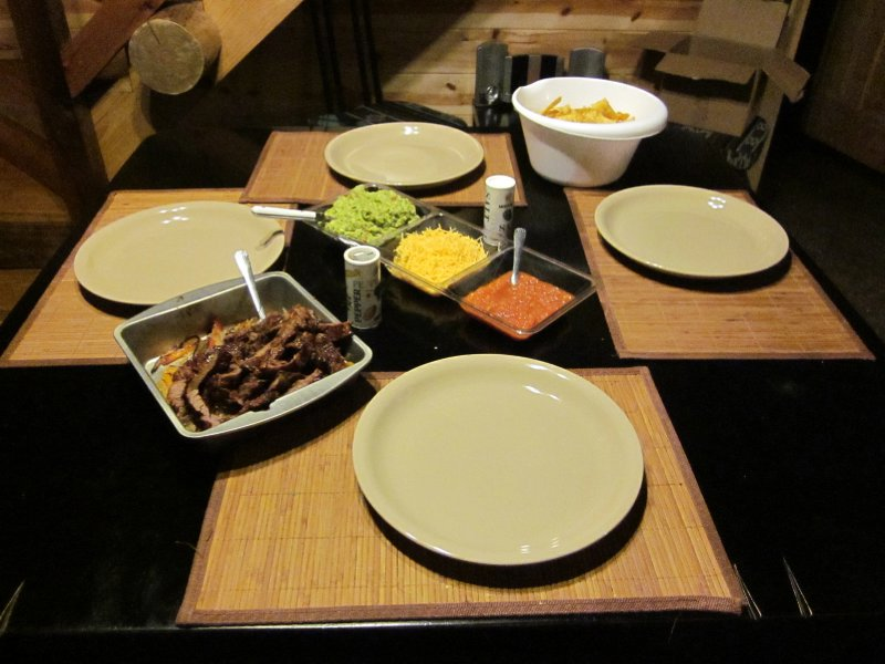 Saturday's dinner was delicious fajitas