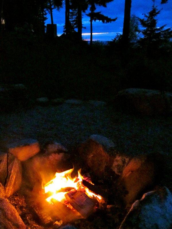 Enjoying a warm fire