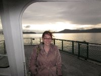 On the (very windy) ferry