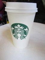 Taking a break at Starbucks