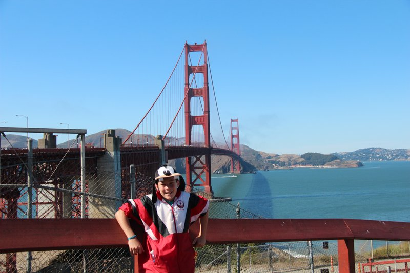 Angus at the Golden Gate Bridge