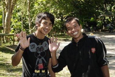 waterfall tour guides - lombok