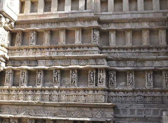 antique stone sculpture in city of Patan, India