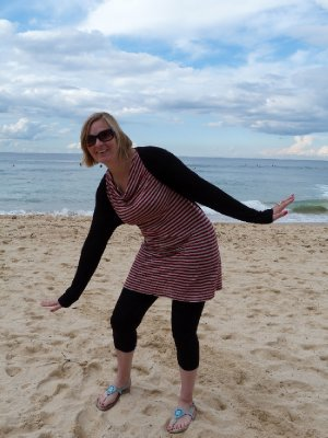 Surfing on Manly Beach...