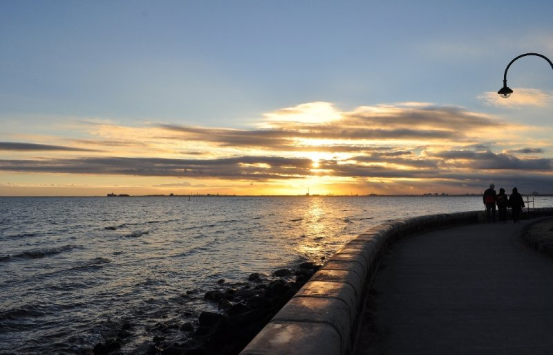 Sunset on the Elwood Foreshore