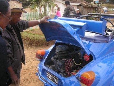 the engine : not the 4CV original one but a R8 Gordini