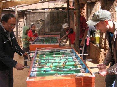 a game in a village
