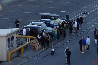 5-17r (32) Car display at pier Napier, NZ