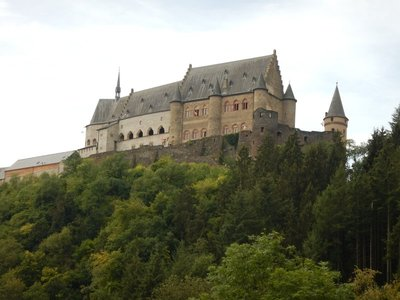 Vianden Castle is one of the largest fortified castles west of the Rhine River