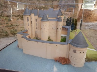 This model shows how impressive the castle was in its heyday; you don't get that same feeling walking through the ruins that remain today