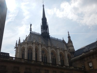 Sainte-Chapelle is largely hidden with no street frontage but, with its magnificent stained windows, ranks as the number 2 thing to do in Paris according to TripAdvisor