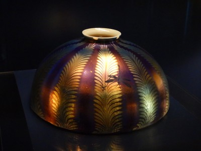 Favrile Shade, ca. 1910; the New-York Historical Society's Tiffany Lamp Collection is regarded as one of the world's largest and most encyclopedic