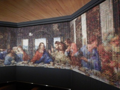 After the Last Supper, Devorah Sperber, 2005; an incredible piece made from 20,000  spools of thread