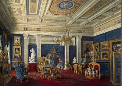 Blue Room at Prince's Palace; it's great to see safe places, like Monaco, where small kids can walk the streets or play in parks without parents worrying