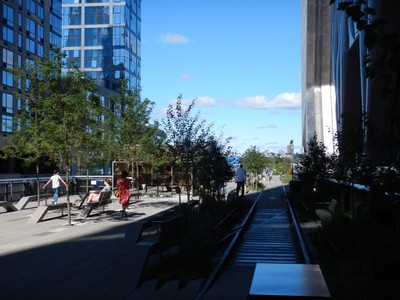The High Line is a must do on any visit to New York and conveniently goes from the Edge and the Vessel at Hudson Yards down to the Whitney Museum of Art and Little Island (it's only 1 1/2 miles though)