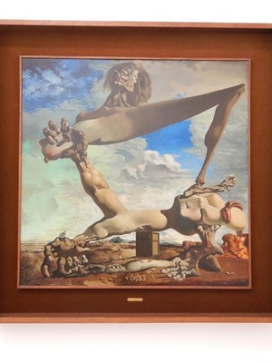 Soft Construction with Boiled Beans (Premonition of Civil War), Salvador Dali, 1936; the prophetic artist created the piece to represent the horrors of the Spanish Civil War, painting it six months before the conflict began