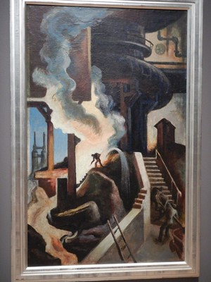 The Steel Mill, Thomas Hart Benton, 1930; Benton visited the Bethlehem Steel plant in Sparrow's Point, MD to get inspiration for his many steel-themed works