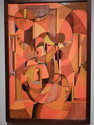 Yesterday, Today, Tomorrow, Mary Morez, 1975; the artist was stricken with both polio and rheumatic fever as a girl and depicted her Navajo roots in a contemporary, abstract style