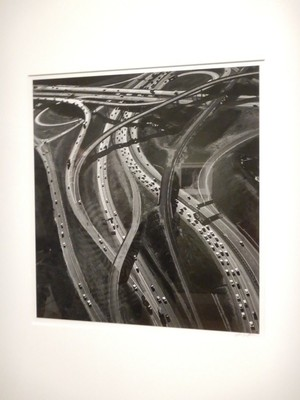 Freeway Interchange, Los Angeles, Ansel Adams, 1967; I pondered where Adams could have taken this photo from; the collection of 100  Adams photographs is a temporary exhibit and cost $12