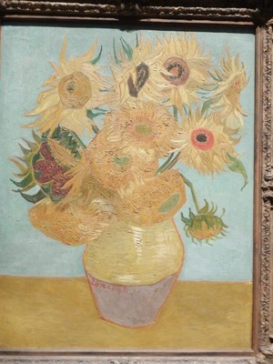 Sunflowers, Vincent van Gogh, 1889; the artist created around 860 oil paintings in his life but he was not commercially successful, and his suicide at 37 came after years of mental illness, depression and poverty